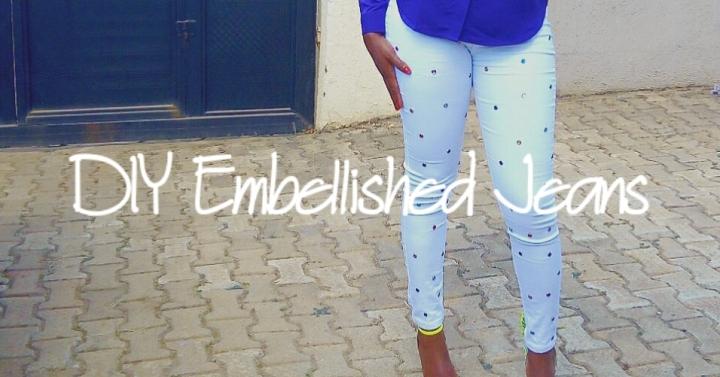 DIY: Embellished Jeans