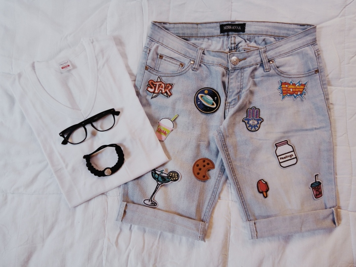 DIY || REVAMPING JEANS TROUSERS TO SHORTS USING PATCHES + GIVEAWAY